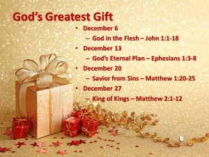 God's Greatest Gift title and outline